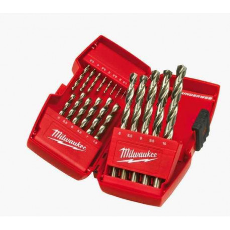 Milwaukee 19 piece set toolbox with the included Hss-G drill bits set