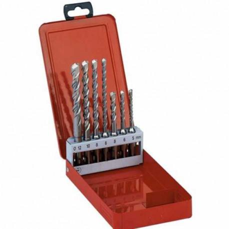 Milwaukee 7 piece drill bit set sds plus with 2 cutting edges