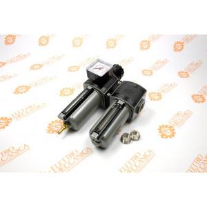 Gruppo filtro-regolatore e lubrificatore modulare con bicchiere metallico 3/8F E/22/2/P