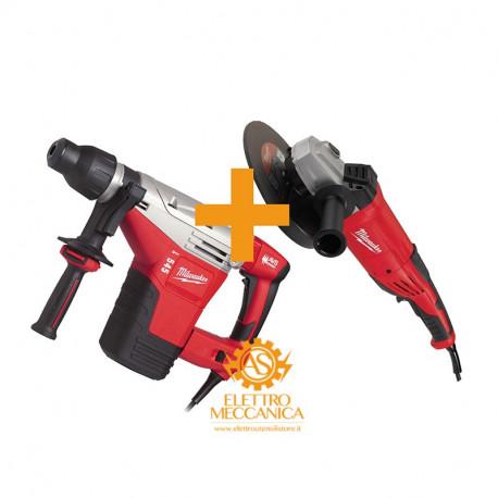 545 S rotary hammer drill kit + Milwaukee Ag 22-230/Dms 2200w  Grinder/ag 4933442505