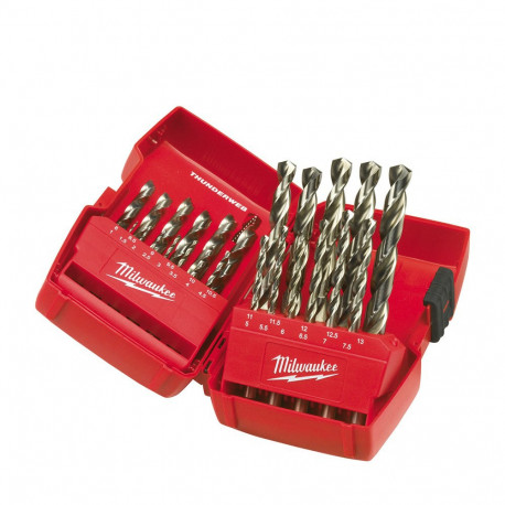 Milwaukee 25 piece set toolbox with the included Hss-G drill bits set
