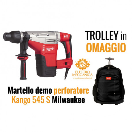 Offerta Martello Demolitore Perforatore Milwaukee Kango 545 S + Trolley in omaggio Milwaukee
