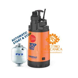 Elettropompa 48TPMA070A1U con Presscontrol integrato + Serbatoio 3 litri + cavo 10mt Pedrollo