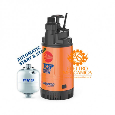 Elettropompa 48TPMA070A1U con Presscontrol integrato + Serbatoio 1 litri + cavo 10mt Pedrollo
