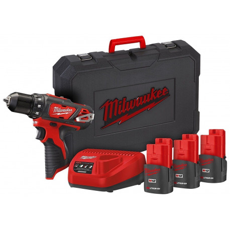 M12 BDD-153C drill driver offer + 3 12V 1,5AH batteries + battery charger + Milwaukee toolbag