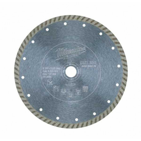 Milwaukee Dtu 230 Diamond cutting disk 230mm diameter