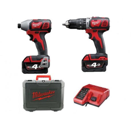 drill driver kit + Milwaukee M18bpp2c-402c_Kit 18V pulse driver