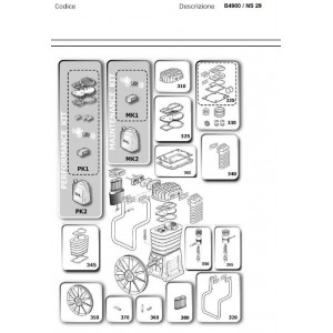 Kit Biella Pistone Bassa Pressione per Gruppi Pompanti Abac  B4900 / Balma NS29S