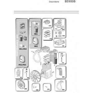 Kit Biella Pistone Alta Pressione per Gruppi Pompanti Abac  B5900