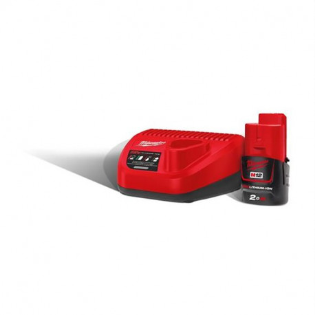 Kit batterie e caricabatterie M12 NRG-201 Milwaukee