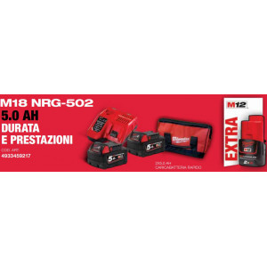 Kit M18 NRG-502 Batterie Originali Milwaukee