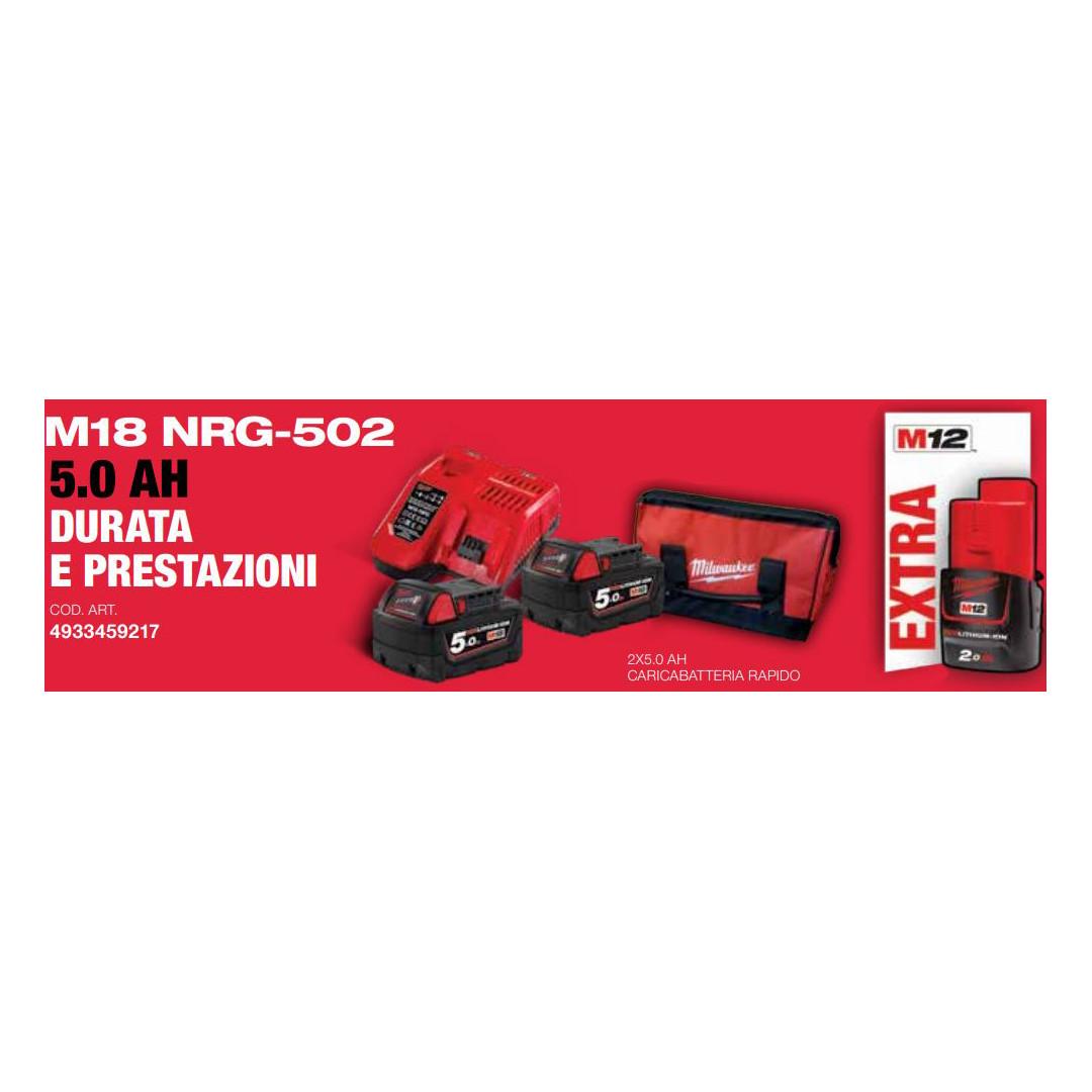 Kit M18 NRG-502 Batterie Originali Milwaukee
