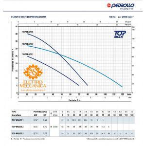 Elettropompa Sommergibile MULTIGIRANTE Monofase 0.37KW 0.50HP TOP MULTI1 Pedrollo