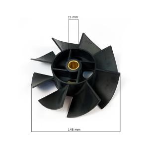 Ventola d 148 per compressore ABAC Balma Nuair Stanley 2236109431 misure