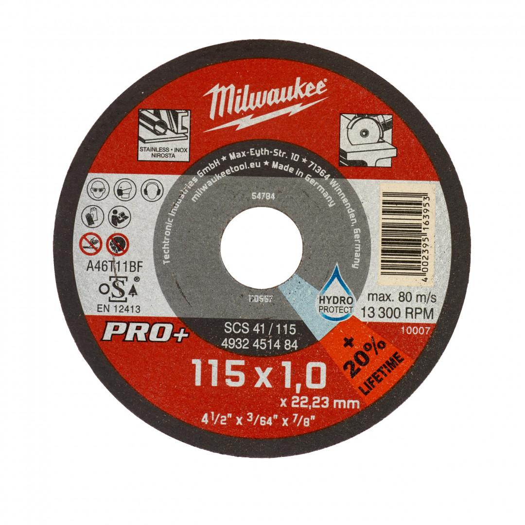 Disc grinder Sc 41 D 115 X 1 X 22,2 mm Milwaukee