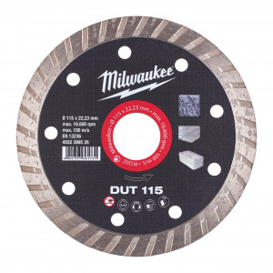 Milwaukee DUT 115mm diamond cutting disk