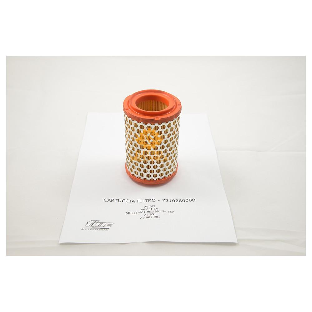 Cartuccia Filtro Aria per Gruppi Pompanti Fiac AB 671 - AB 851 - AB 901 - AB 951 - AB 981