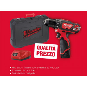 Promozione Trapano Avvitatore Compatto M12BDD-152C Milwaukee