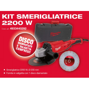 Kit Smerigliatrice Angolare AG22-230 D-Set Milwaukee