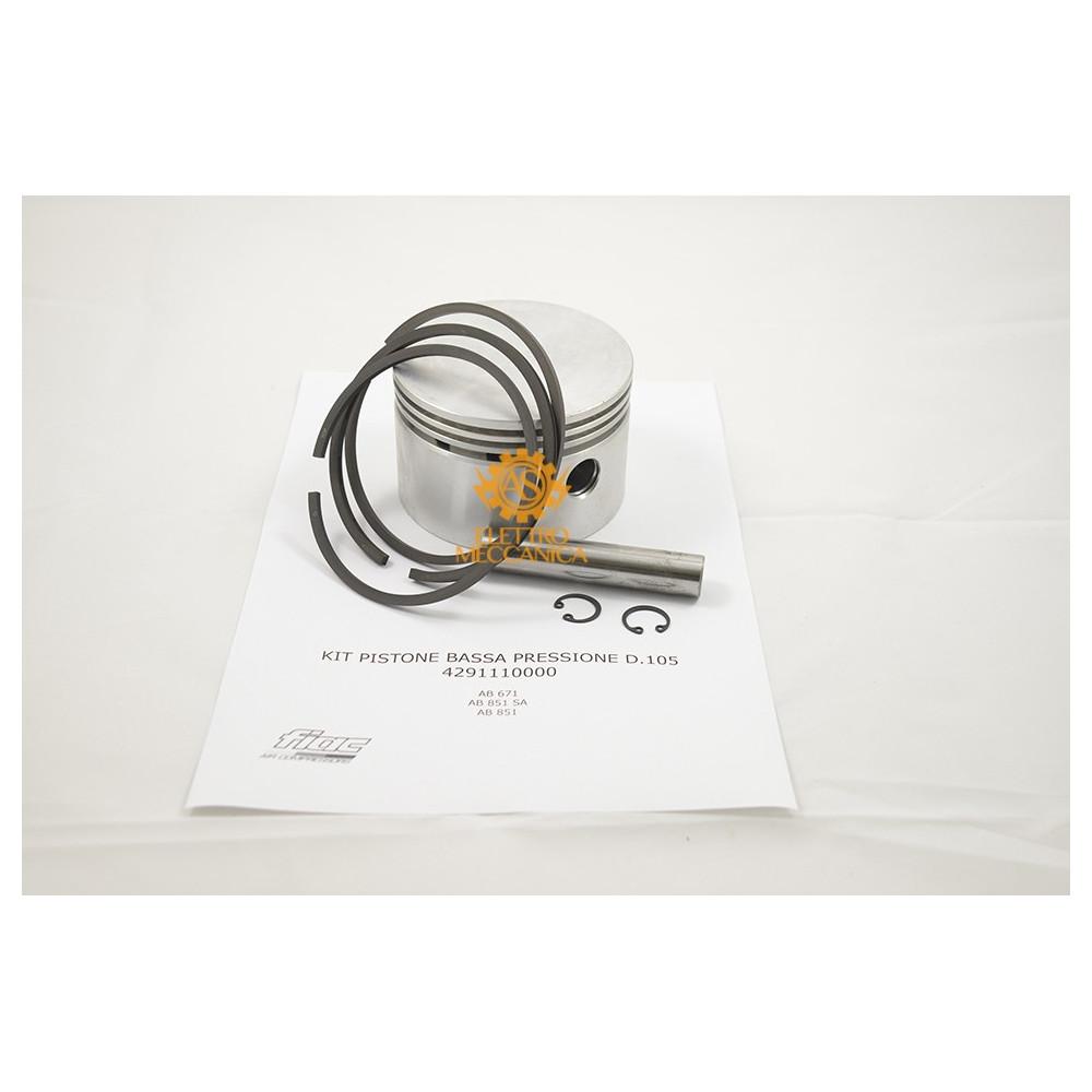 Kit Pistone Bassa Pressione D.105 per Gruppi Pompanti Fiac AB 671 - AB 851