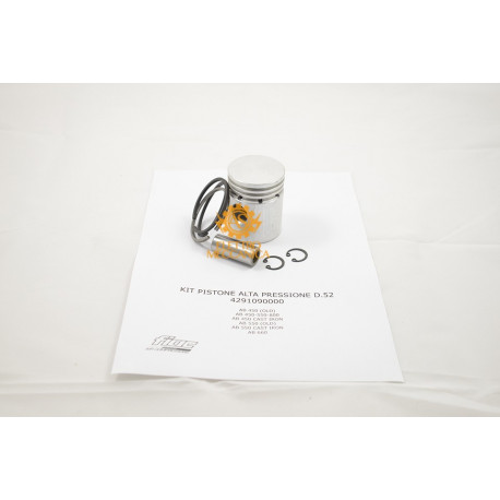 Kit Pistone Alta Pressione D.52 per Gruppi Pompanti Fiac AB 450 - AB 550 - AB 600 - AB 800