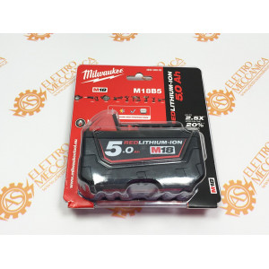 M18 B5 Batteria Milwaukee 18V 5Ah ORIGINALE