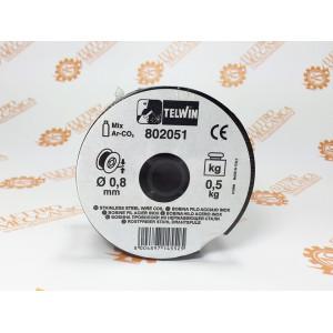 Bobina Telwin filo acciaio inox Ø 0,8mm da 0,5Kg per saldatrici gas Cod. 802051