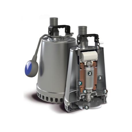 Elettropompa Sommergibile DR-Steel 55/2 M50 TCW 10/SH Monofase Zenit