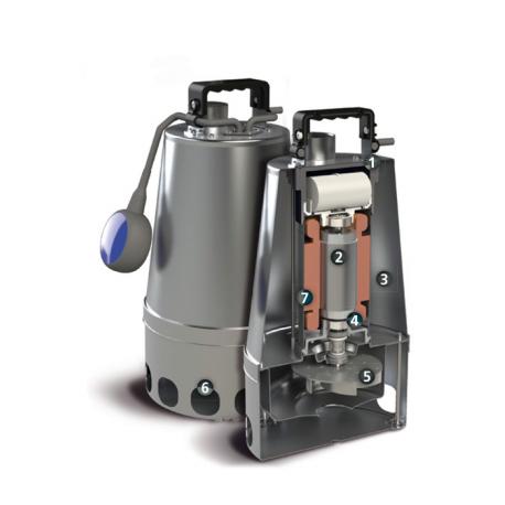 Elettropompa Sommergibile DG-steel 75/2 M50 TCW 10/SH Monofase Zenit