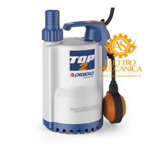 Elettropompa Sommergibile DRENAGGIO acque chiare Monofase 0.55KW 0.75HP TOP 3 Pedrollo cavo 5mt