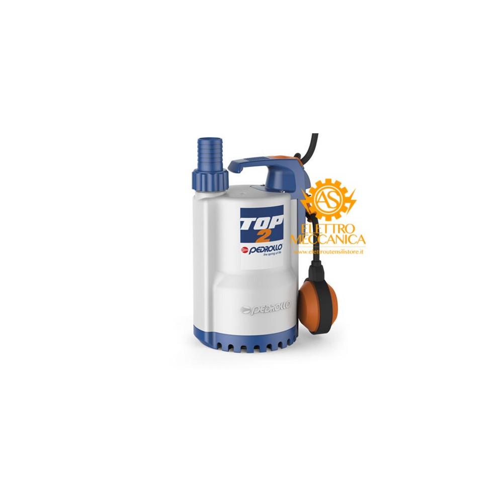 Elettropompa Sommergibile DRENAGGIO acque chiare Monofase 0.55KW 0.75HP TOP 3 Pedrollo
