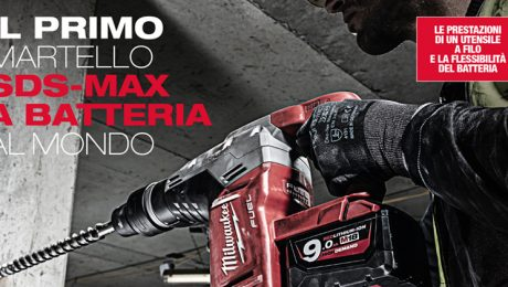 Il Primo Martello SDS-MAX a Batteria al Mondo, Potente e Flessibile by Milwaukee