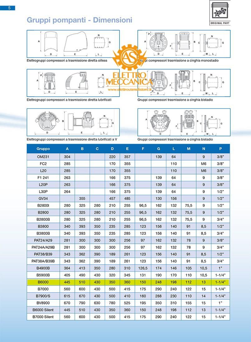 Gruppo Pompante Abac B6000 Con Collettore Filtro Silenziato 04